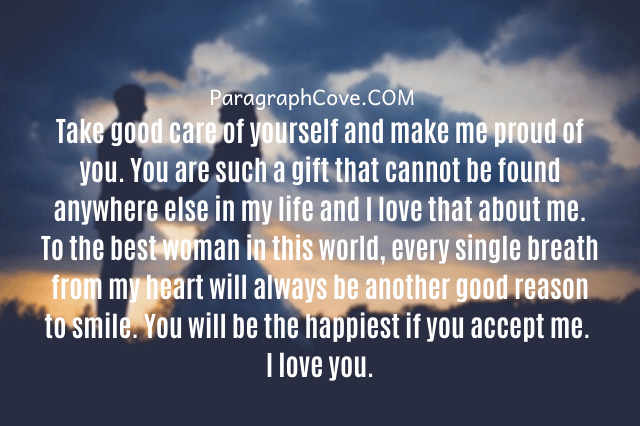 Cute Paragraphs for your Girlfriend One