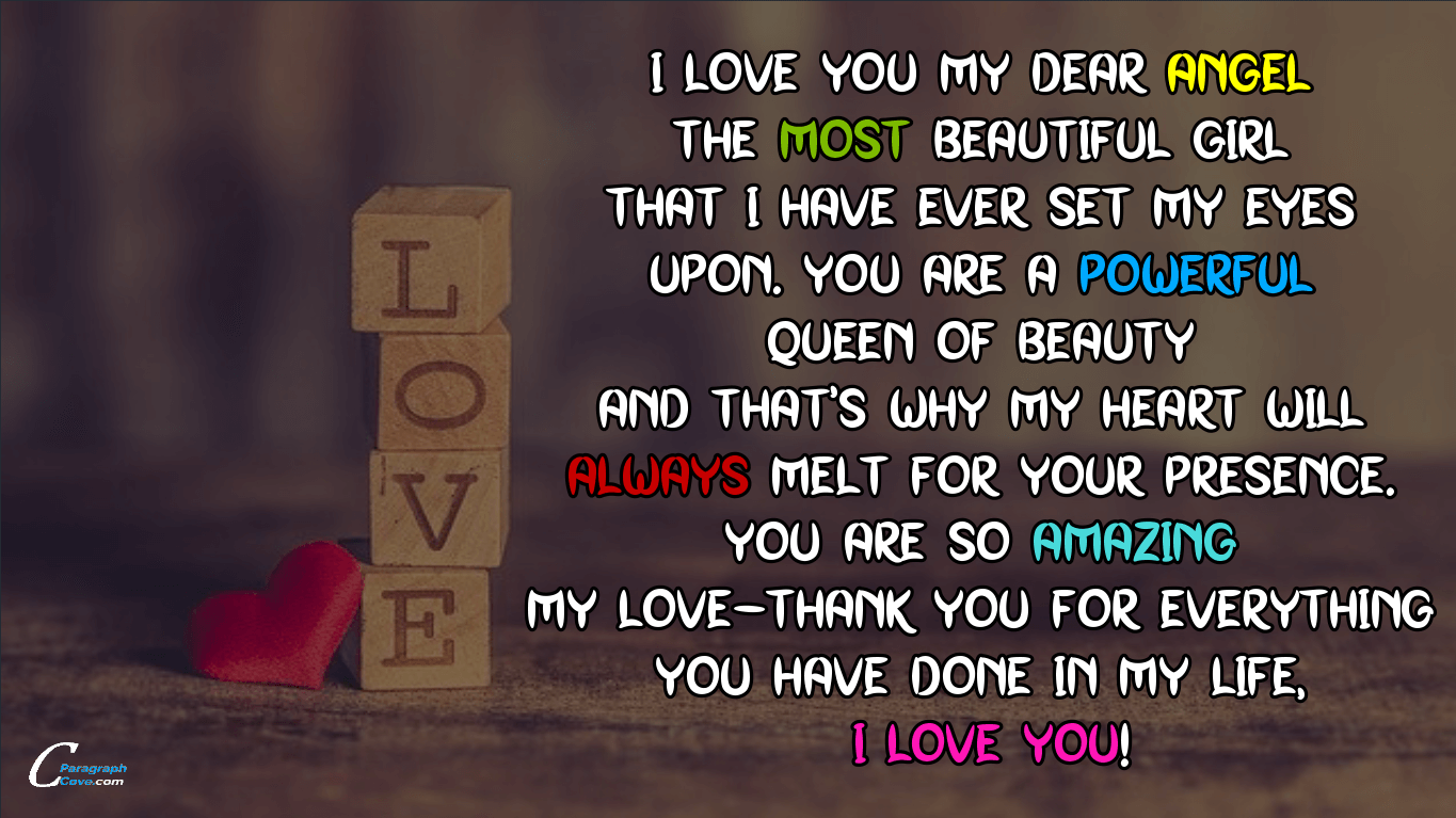 Cute Paragraphs for your Girlfriend